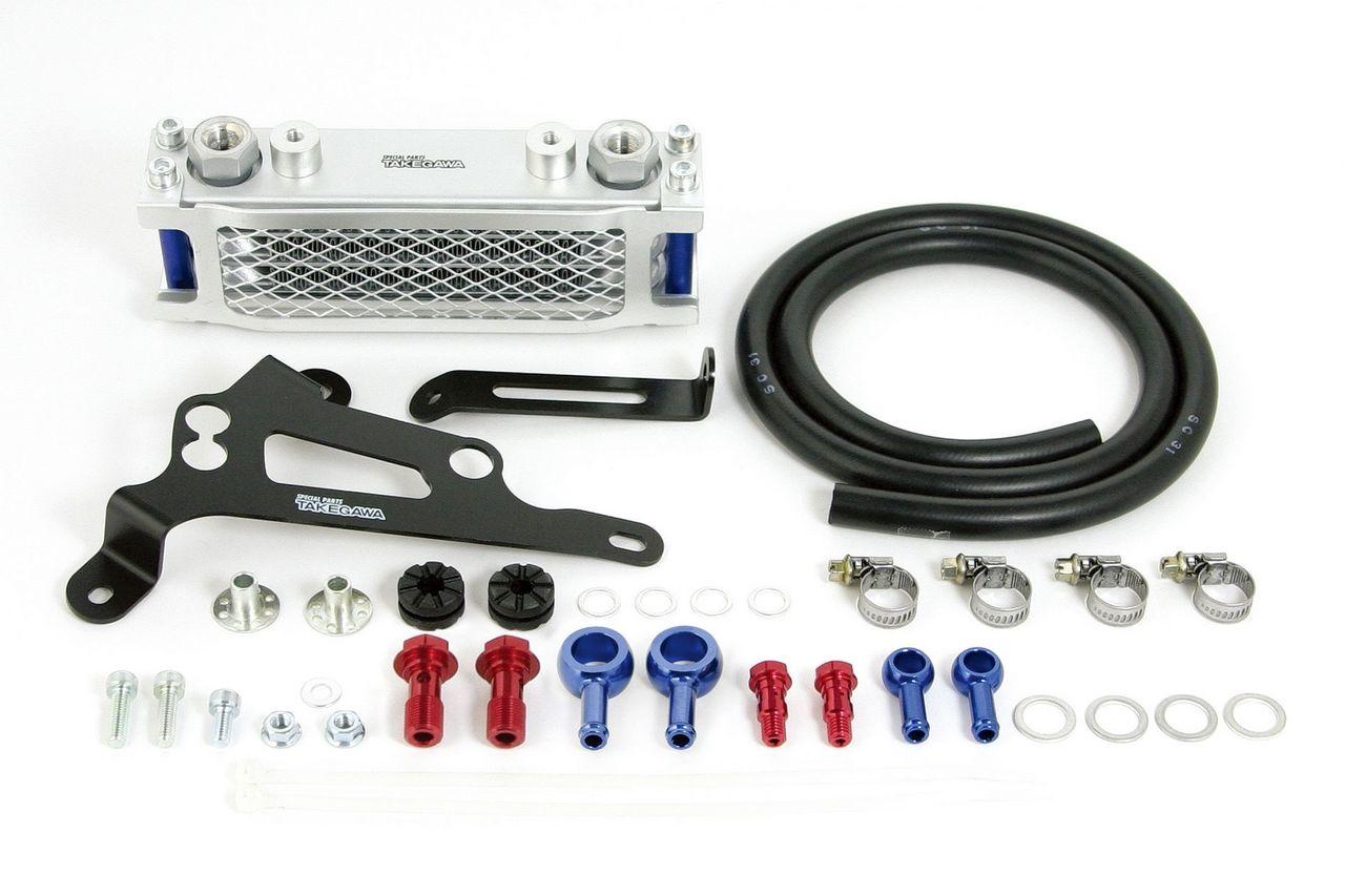 【SP武川】Compact 機油冷卻器(3-排/銀色散熱核心/橡膠) - 「Webike-摩托百貨」