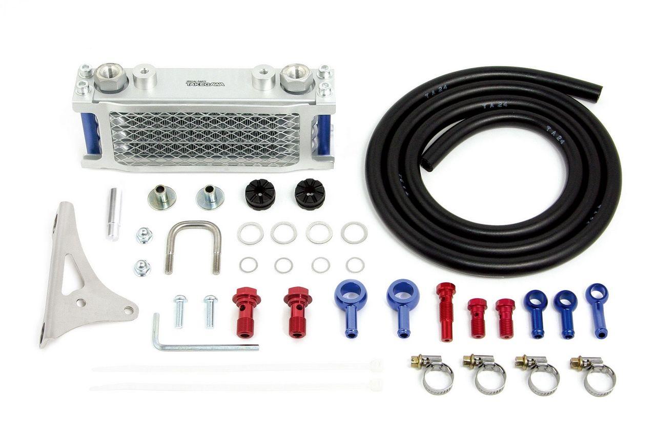 【SP武川】Compact 4排式機油冷卻器(橡膠軟管/ 銀色散熱核心) - 「Webike-摩托百貨」
