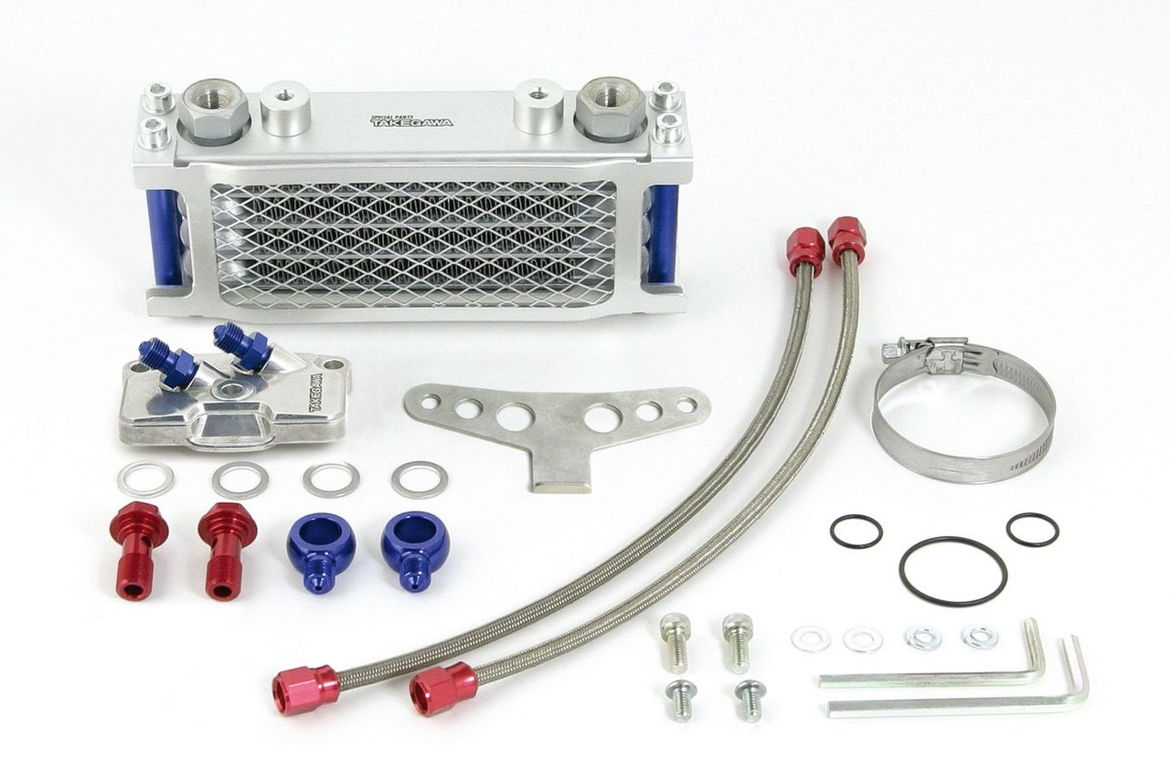 【SP武川】Compact 4排式機油冷卻器(細橡膠軟管/支架) - 「Webike-摩托百貨」