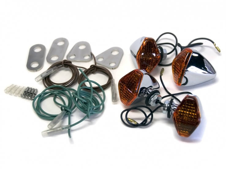 【Motor Rock】鑽石型 方向燈套件 SR400/500用 - 「Webike-摩托百貨」