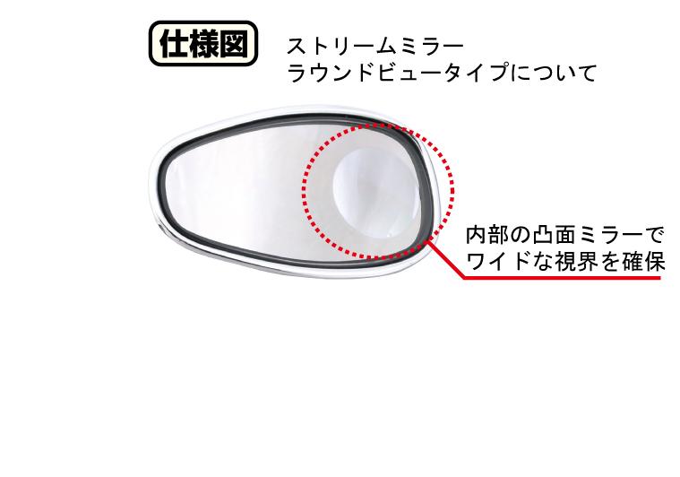 【KITACO】Stream後視鏡 【內砍圓型廣角鏡】 - 「Webike-摩托百貨」