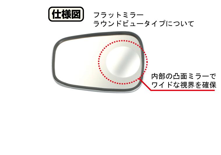 【KITACO】平板式後視鏡 【內砍圓型廣角鏡】 - 「Webike-摩托百貨」
