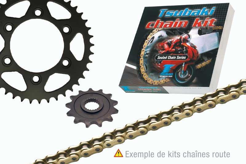 TSUBAKI ツバキ:Tsubaki Chain Type GAMMA QRB 420 kit (Standard rear sprocket) RIEJU SPIKE50【ヨーロッパ直輸入品】