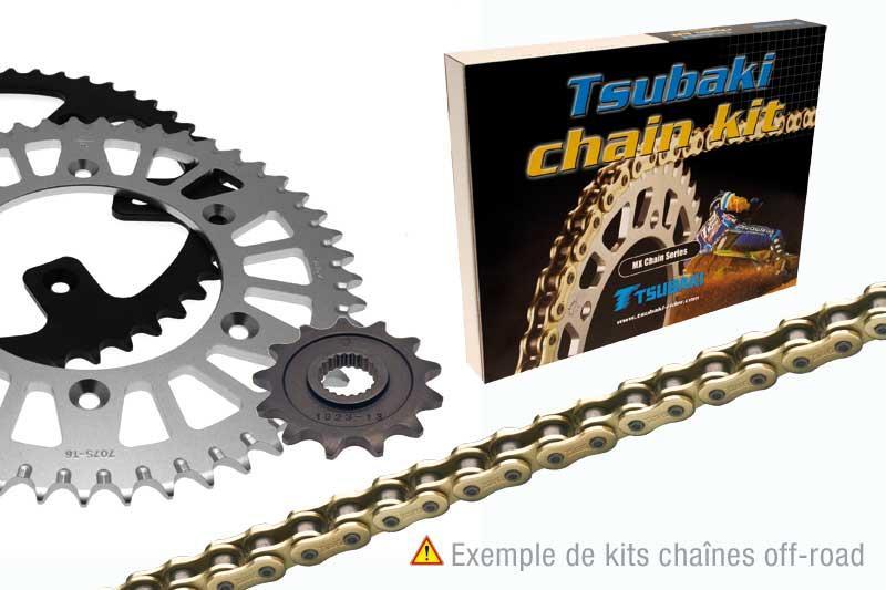 TSUBAKI ツバキ:Tsubaki Chain kit POLARIS OUTLAW 525 (520 MX type ALPHA XRG)【ヨーロッパ直輸入品】