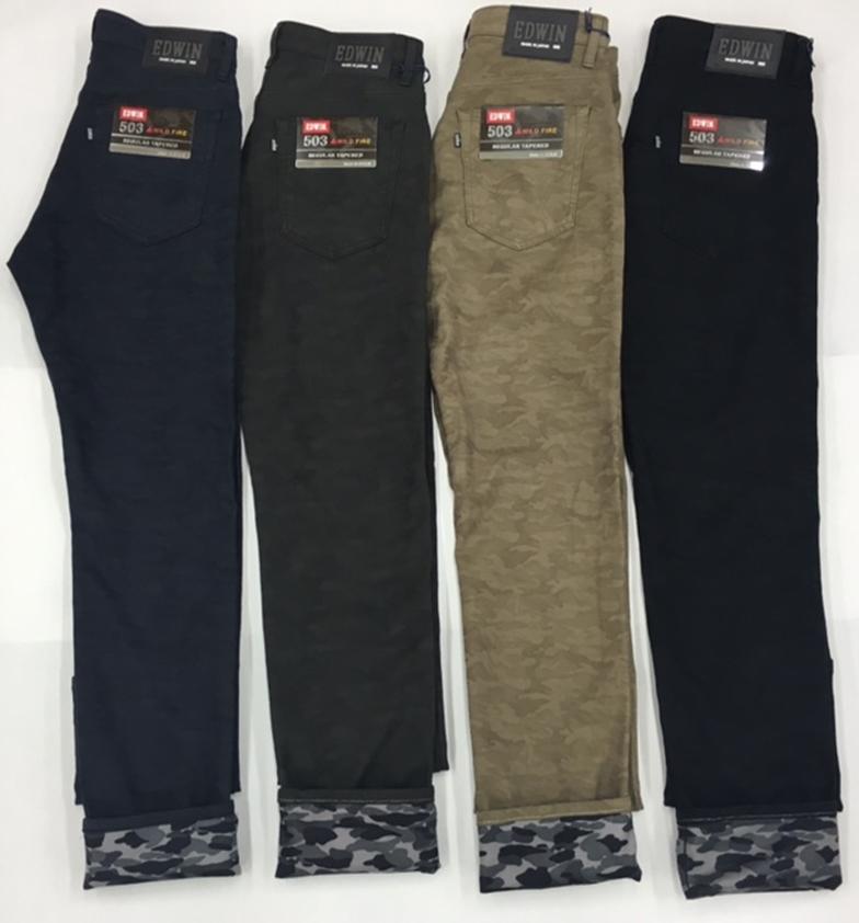 【EDWIN】503 WILD FIRE Regular Tapered迷彩褲 - 「Webike-摩托百貨」