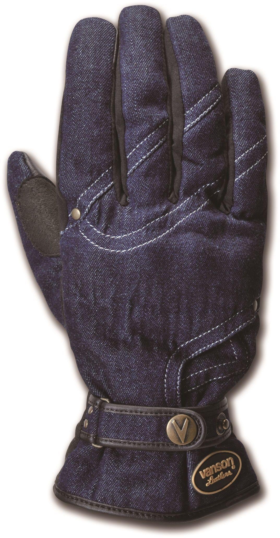 【VANSON】手腕調整帶(束帶)丹寧牛仔FW手套 - 「Webike-摩托百貨」
