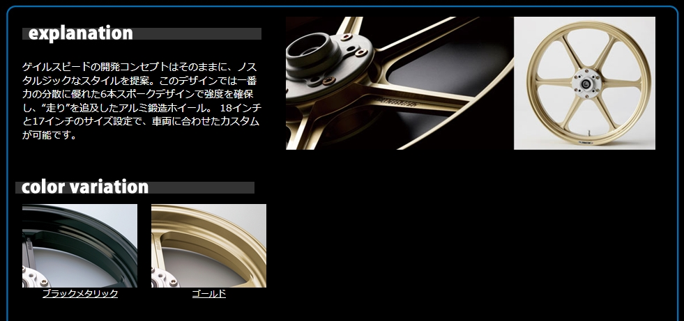 【GALE SPEED】鋁合金鍛造輪框【TYPE-N】 後輪 - 「Webike-摩托百貨」