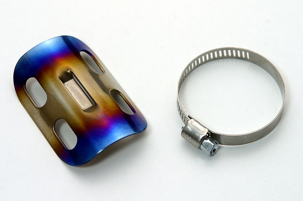 【K-FACTORY】鈦合金・排氣管護蓋 - 「Webike-摩托百貨」