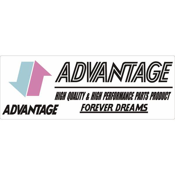 【ADVANTAGE】ADVANTAGE貼紙特大 - 「Webike-摩托百貨」