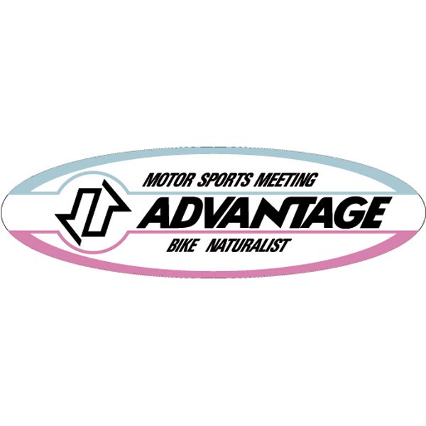 【ADVANTAGE】ADVANTAGE貼紙(橢圓) - 「Webike-摩托百貨」