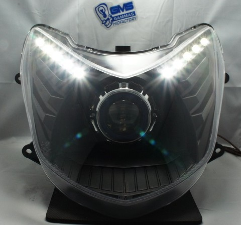 GMS-M6sカスタムヘッドライト LEDトリム