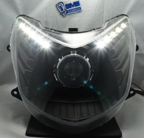 GMS-M6sカスタムヘッドライト LEDホワイトトリム