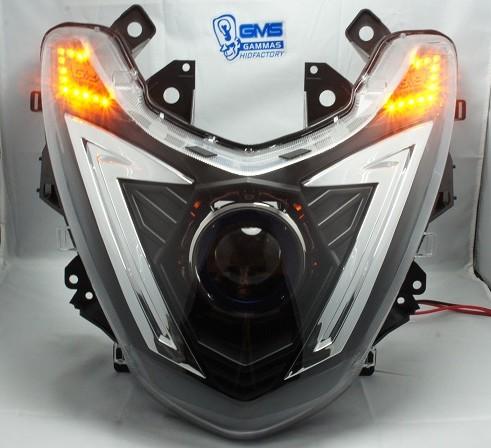GMS-M7カスタムヘッドライト LEDメッキトリム