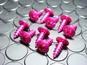 【KN企劃】鋁合金自攻螺絲 (5mm 粉紅色) - 「Webike-摩托百貨」