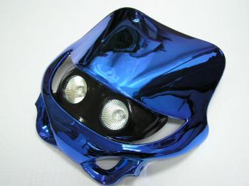 【KN企劃】MotoCross 頭燈整流罩  水平型 Type 11  (電鍍藍色) - 「Webike-摩托百貨」