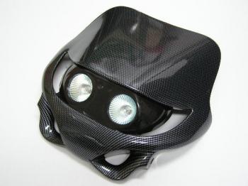 【KN企劃】MotoCross 頭燈整流罩  (水平型/雙燈/碳纖維紋路) - 「Webike-摩托百貨」