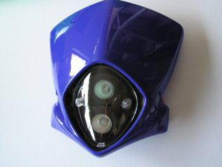 【KN企劃】MotoCross 頭燈整流罩  (垂直型/雙燈/藍色) - 「Webike-摩托百貨」