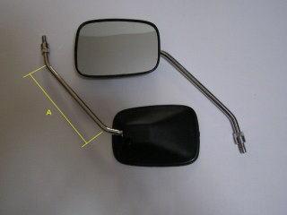 【KN企劃】四角 後視鏡 (螺桿直徑 8mm/左右組) - 「Webike-摩托百貨」