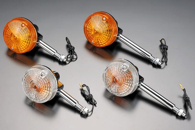 【PMC】GS400型方向燈 (短型/附固定座/透明) - 「Webike-摩托百貨」