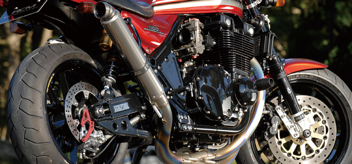 【NITRO RACING】4in1 手工彎曲 鈦合金 全段排氣管 UP Type  ZEPHYR1100用 - 「Webike-摩托百貨」