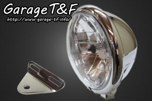 【Garage T&F】5.75吋 Bates 型頭燈&頭燈支架套件 (Type A) - 「Webike-摩托百貨」