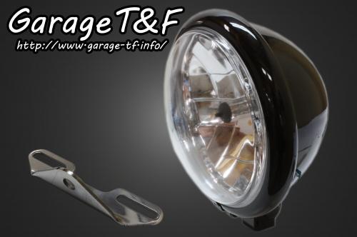 【Garage T&F】5.75吋 Bates 型頭燈&頭燈支架套件 (Type B) - 「Webike-摩托百貨」