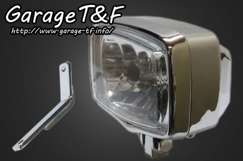 【Garage T&F】4吋 Square 頭燈&頭燈支架套件 (Type D) - 「Webike-摩托百貨」