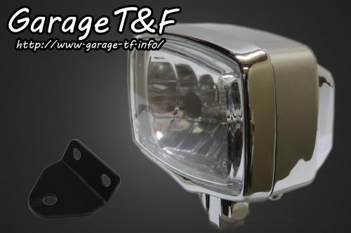【Garage T&F】4吋 Square 頭燈&頭燈支架套件 (Type C) - 「Webike-摩托百貨」