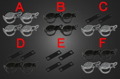 【Garage T&F】Small Brett Blinker方向燈(四個一組)黑色支架F - 「Webike-摩托百貨」