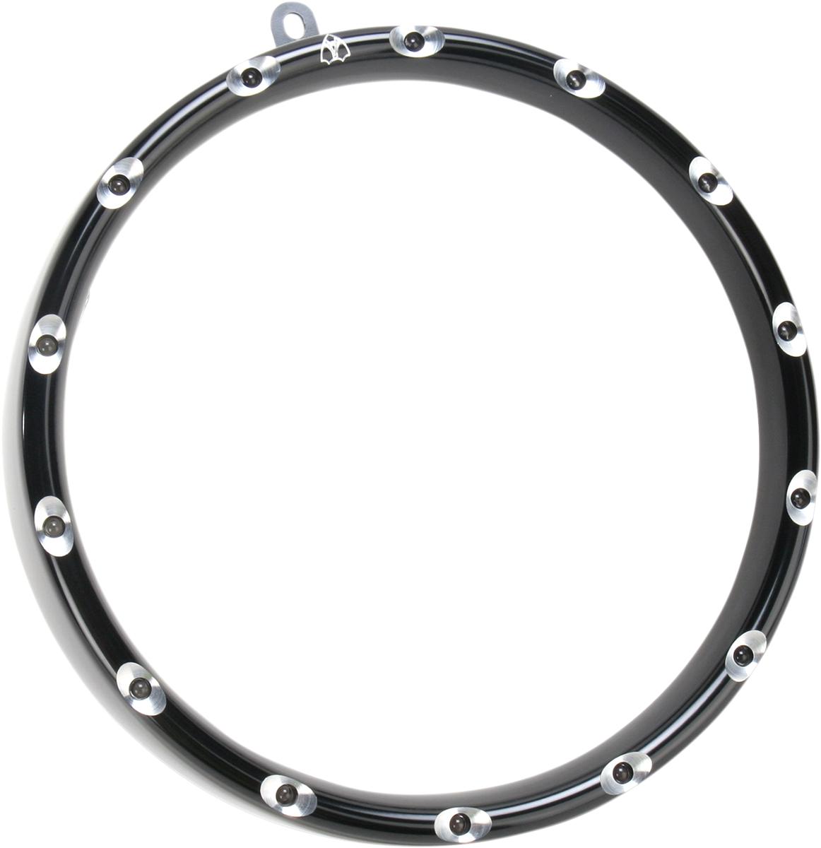 【ARLEN NESS】頭燈飾環 FLST BLK [2001-0575] - 「Webike-摩托百貨」