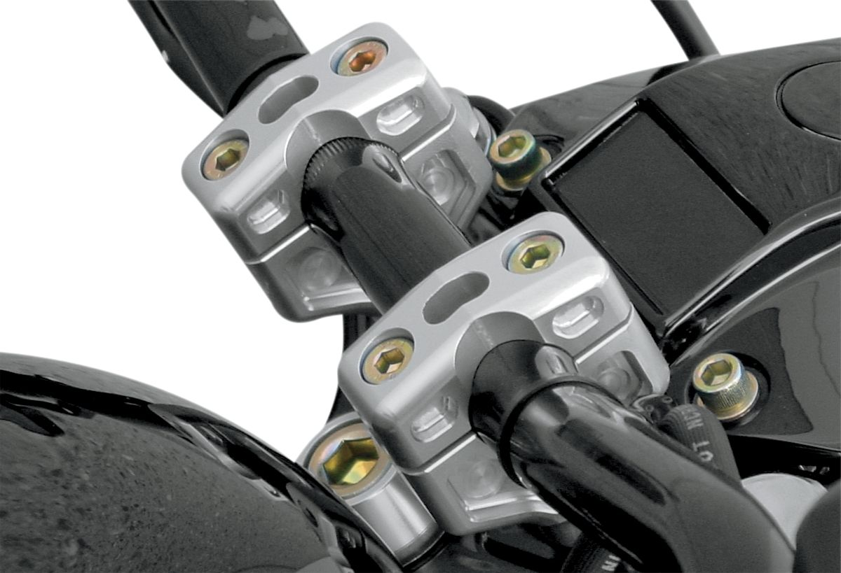 """【JOKER MACHINE】把手增高座 2""""雙 HD 銀色 【RISER 2"""" DUAL HD CLEAR [0602-0370]】 - 「Webike-摩托百貨」"""