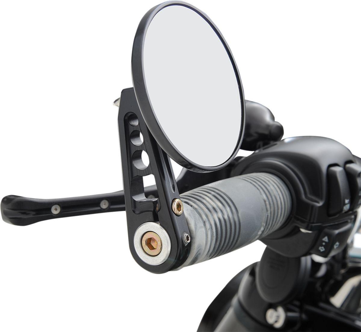 【JOKER MACHINE】把手末端後視鏡直鏡桿 3 1/4  黑色 【MIRROR3 1/4BRND STEMD BLK [0640-0608]】 - 「Webike-摩托百貨」