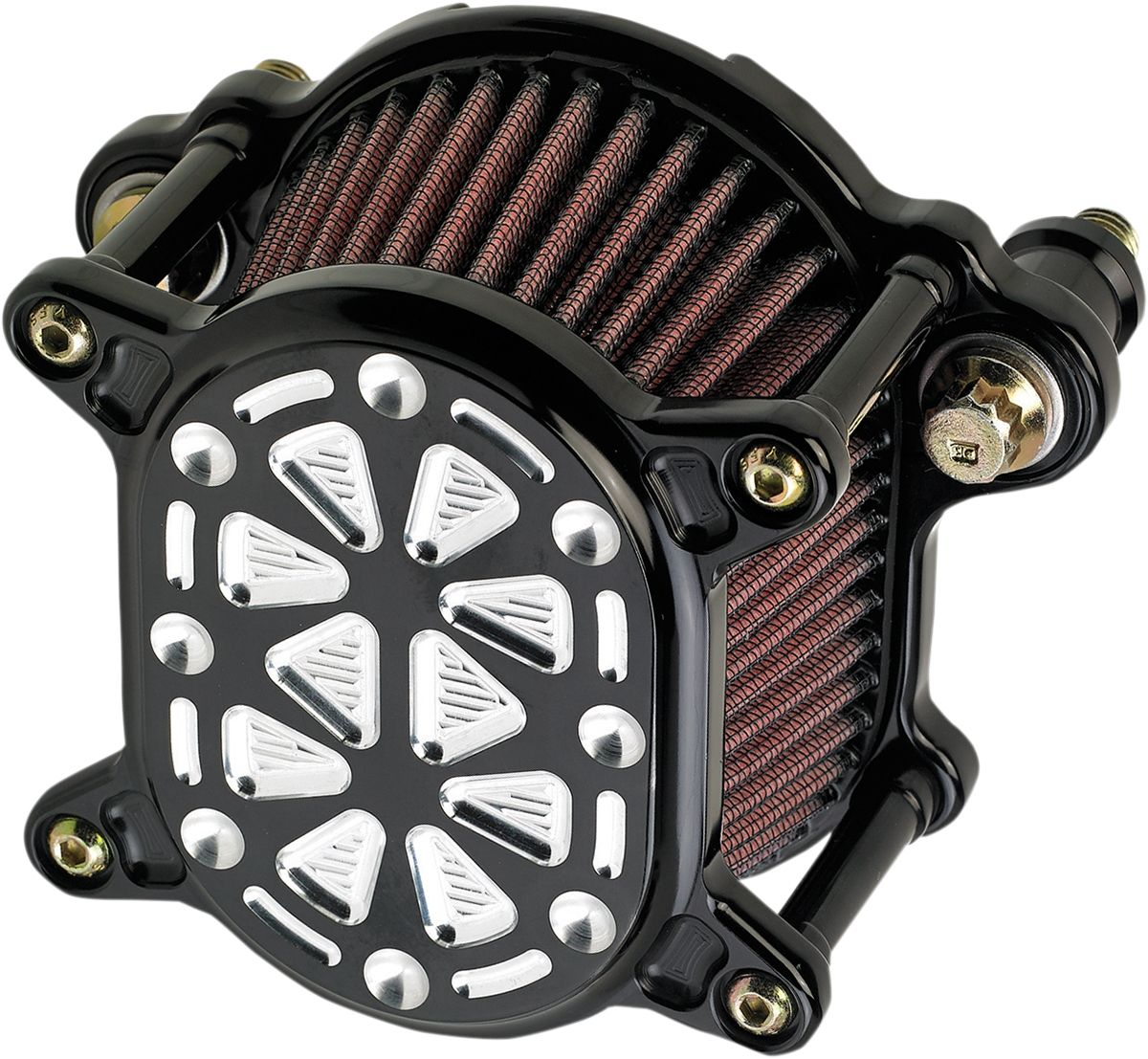 【JOKER MACHINE】空氣濾清器 OMEGA XLEFI Tech 黑色/銀色 【A/C OMEGA XLEFI TCH BL/SL [1001-0055]】 - 「Webike-摩托百貨」