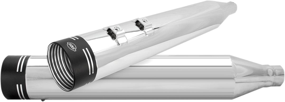 【S&S CYCLE】排氣管尾段/ 鍍鉻 /PWR BAND 【MUFFLERS CHR/PWR BAND [1801-0825]】 - 「Webike-摩托百貨」
