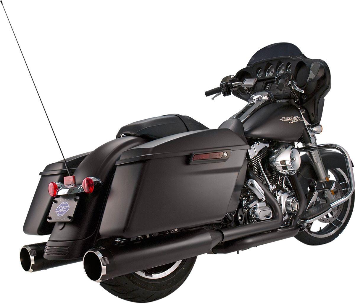 "【S&S CYCLE】排氣管尾段/ 4.5"" 黑色/B.Thruster 【MUFFLERS 4.5""BLK/B.THRST [1801-0849]】 - 「Webike-摩托百貨」"