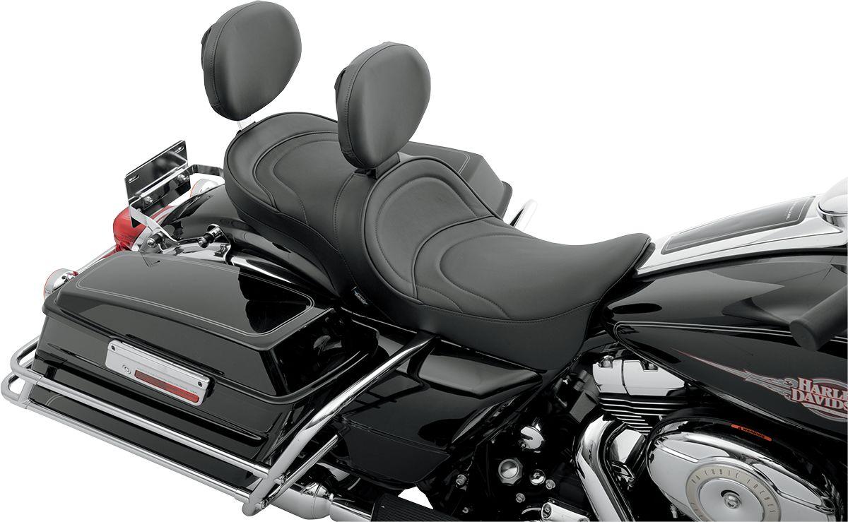 【Drag Specialties】LOW PROFILE 雙座坐墊/ MILD FL 2008-13 【SEAT DBBKREST MLD 08-13FL [0801-0535]】 - 「Webike-摩托百貨」