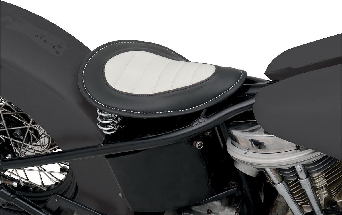 【Drag Specialties】單座坐墊/平滑 黑色&白色 【SEAT SOLO SM BLACK&WHITE [0806-0036]】 - 「Webike-摩托百貨」