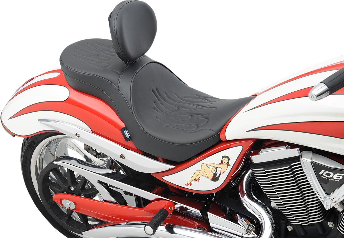 【Drag Specialties】坐墊/  LOW PROFILE DBR 火焰 JACKPOT 【SEAT LOPRODBR FLM JKPOT [0810-1578]】 - 「Webike-摩托百貨」