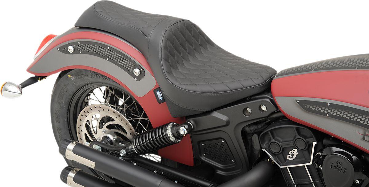 【Drag Specialties】CABALLERO 坐墊/ 黑色 菱形 SOLR 【SEAT CABLRO BLK DIAM SOLR [0810-1997]】 - 「Webike-摩托百貨」