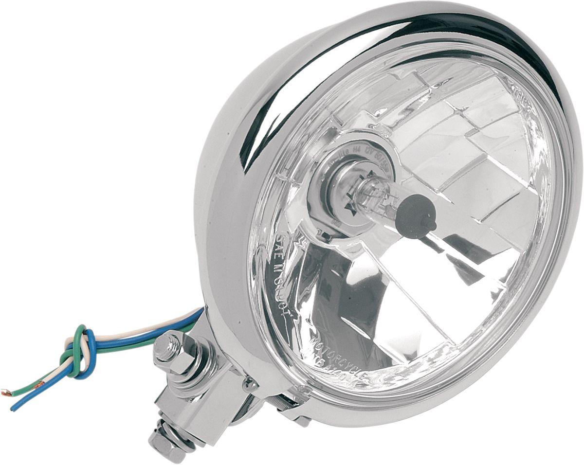 "【Drag Specialties】頭燈/ 5-3/4"" 透明 底部安裝 【HEAD LT.5-3/4""CLR BTM MNT [2001-0099]】 - 「Webike-摩托百貨」"