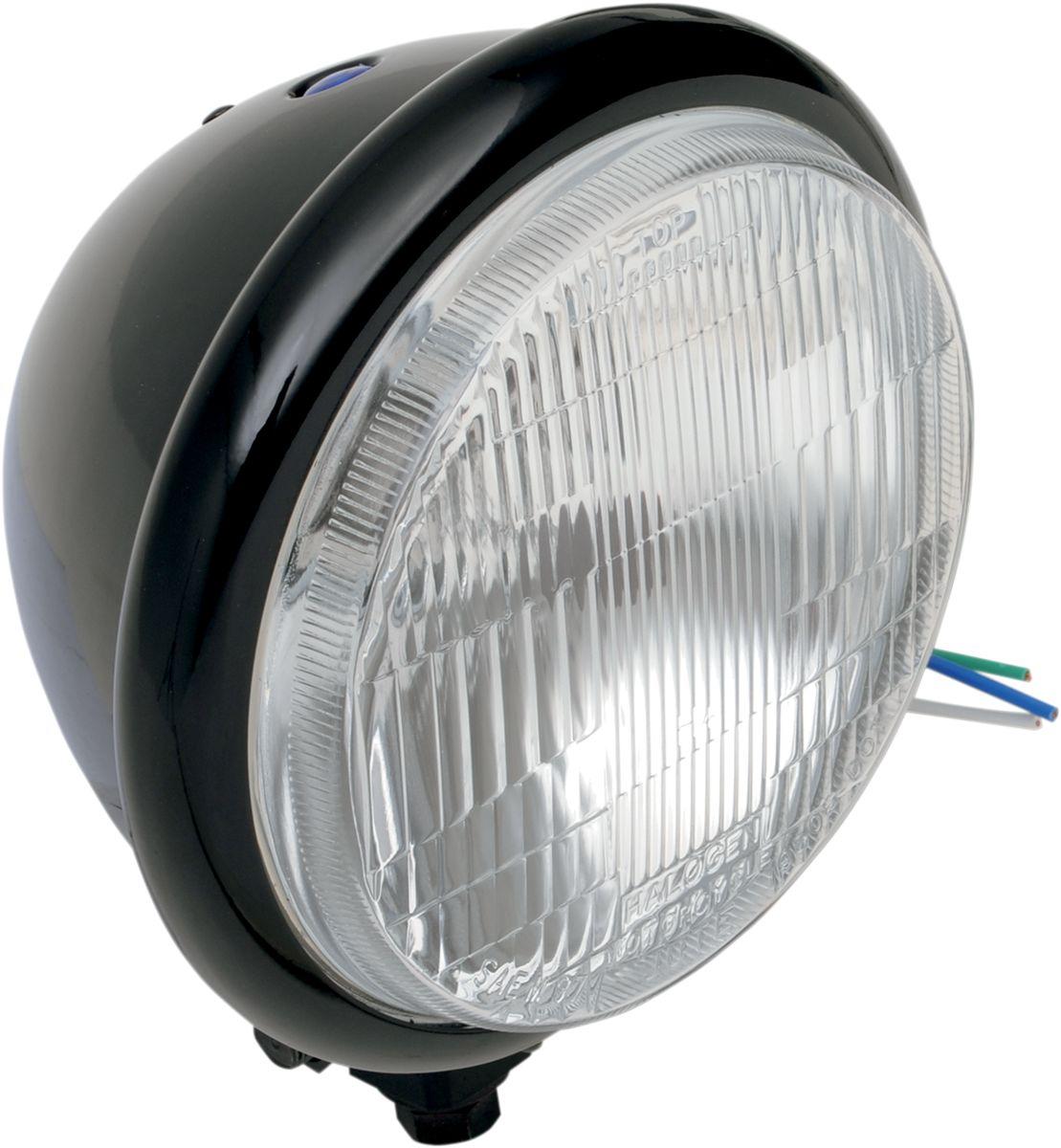 "【Drag Specialties】頭燈/ 5.75"" 黑色 【HEADLIGHT 5.75"" BLK [2001-0553]】 - 「Webike-摩托百貨」"