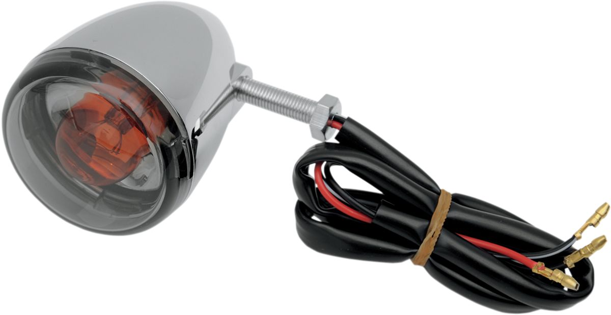 【Drag Specialties】後方向燈/ 燻黑色 【LIGHT T/S UNIV REAR SMK [2020-0394]】 - 「Webike-摩托百貨」
