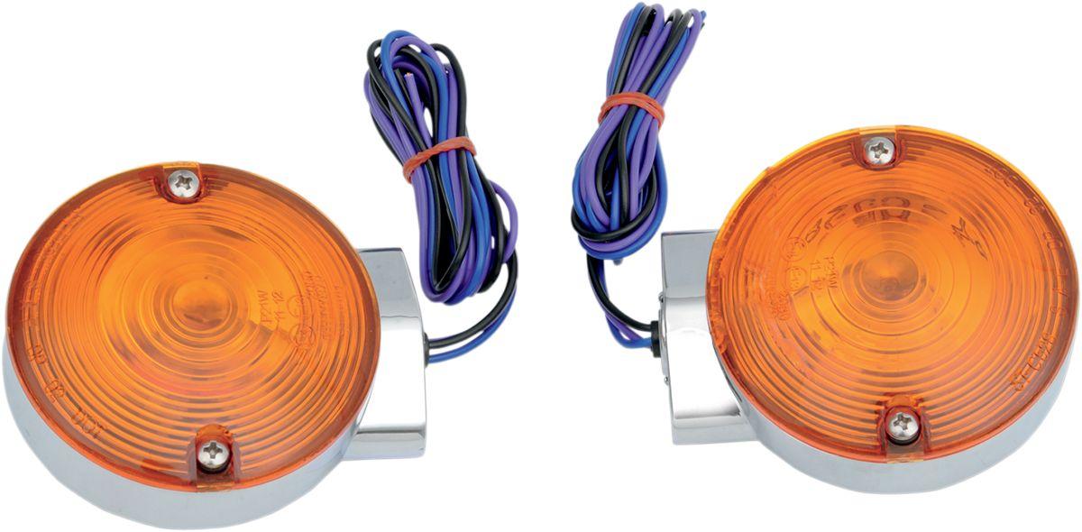 【Drag Specialties】前方向燈/ 鍍鉻 FLT 【LIGHTS T/S CHR FRT FLT [2020-0591]】 - 「Webike-摩托百貨」