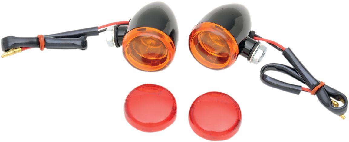【Drag Specialties】方向燈/MINI-DEUCE 黑色 橘色 【LIGHT MINI-DEUCE BLK AMBR [2040-1043]】 - 「Webike-摩托百貨」