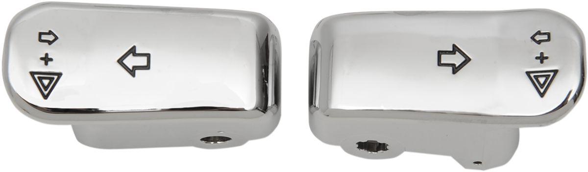 【Drag Specialties】方向燈開關延伸/蓋子造型 鍍鉻1996-用 【CAPS T/S EXT CHR 96- [2106-0363]】 - 「Webike-摩托百貨」