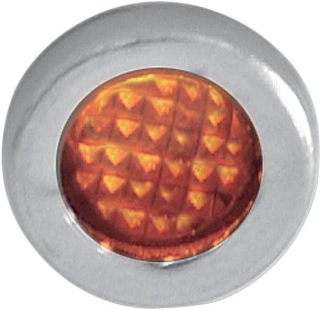 【Drag Specialties】指示燈/ 橘色 附不銹鋼螺絲 【LIGHT IND AMBER W/SS BEZ [2212-0112]】 - 「Webike-摩托百貨」