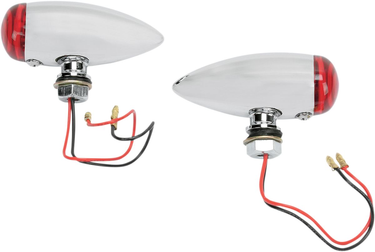 【Drag Specialties】LED位置燈/平滑子彈型 紅色 【SMOOTH BULLET LED RED [7805-2070]】 - 「Webike-摩托百貨」