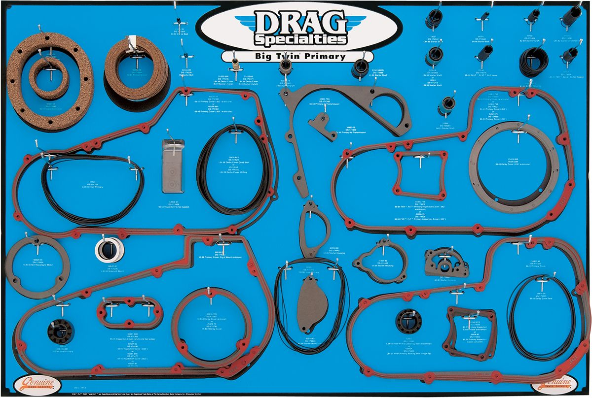 【Drag Specialties】墊片展示板/BIG TWIN 【DISPLAY,GASKET, BIG TWIN [9903-0101]】 - 「Webike-摩托百貨」