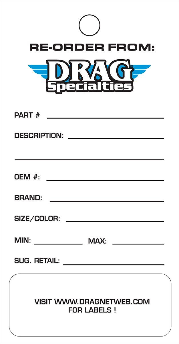 【Drag Specialties】DRAG SPEC 訂單庫存標籤 【DS RE-ORD INVENTORY TAGS [9904-0425]】 - 「Webike-摩托百貨」