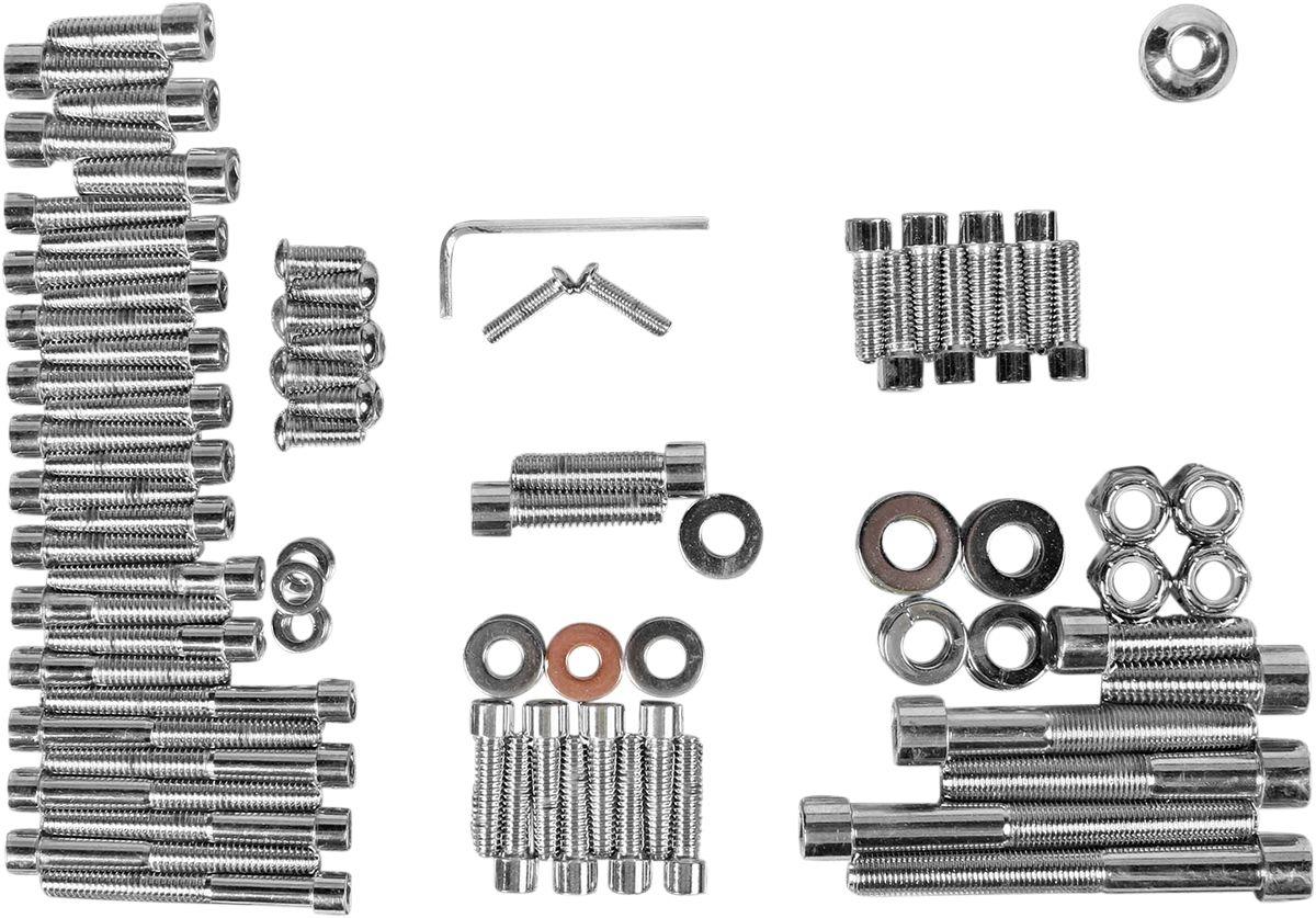 【Drag Specialties】引擎螺絲套件/平滑/FXST 87-88用 【87-88 FXST SM MTR BLT KIT [DS-190814S]】 - 「Webike-摩托百貨」